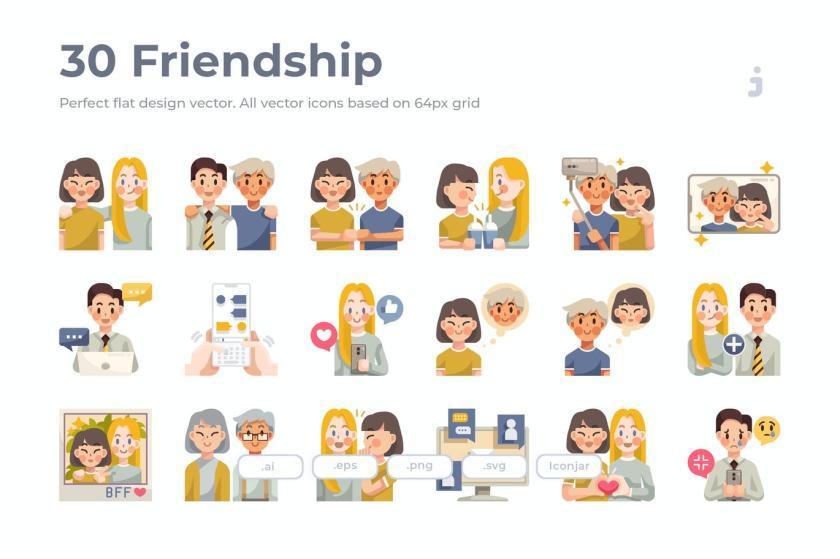 25xt-484167 30 Friendship Icons - Flat1.jpg