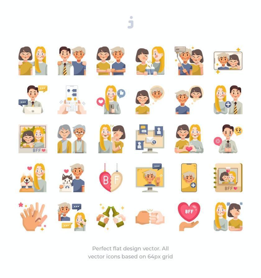 25xt-484167 30 Friendship Icons - Flat2.jpg