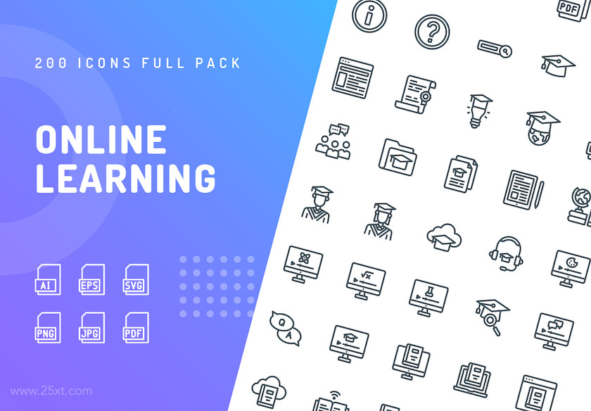 25xt-484001 Online Learning Icons.jpg