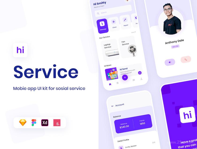 Hi - Social Service App UI KIT 1.jpg